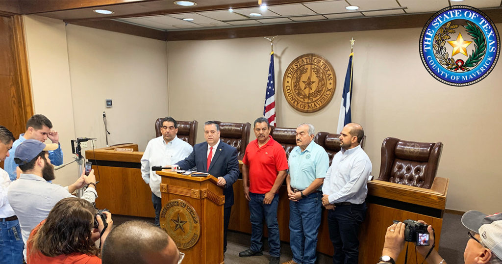 Maverick County Judge David Saucedo Holds Press Conference on June 18, 2019.